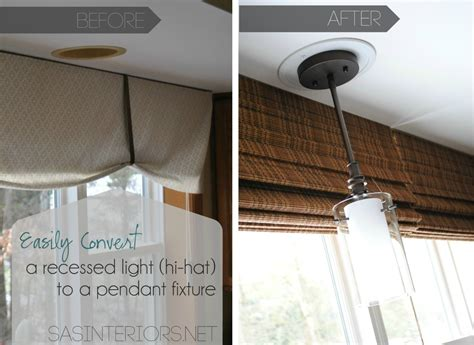 How To Change Recessed Lighting by Easily Change A Recessed Light To A Decorative Hanging