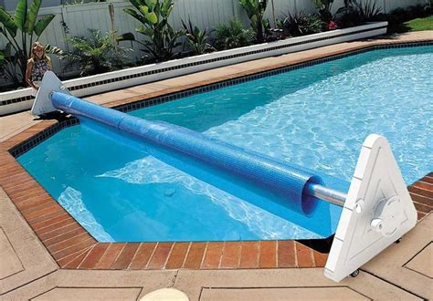 Solar Blankets For Inground Pools by Deluxe Portable Solar Pool Cover Reel Backyard Ideas