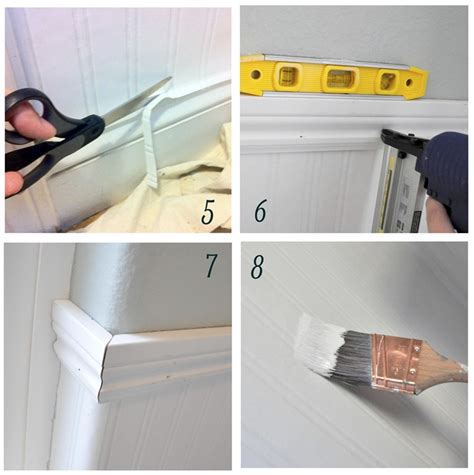 installing beadboard in bathroom how to install wainscoting well and easily how to install