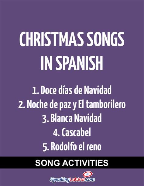 song in spanish spanish class activities with christmas songs in spanish