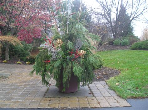 Container Gardening Winter Pots Decorating For Christmas Large Container Gardening Ideas