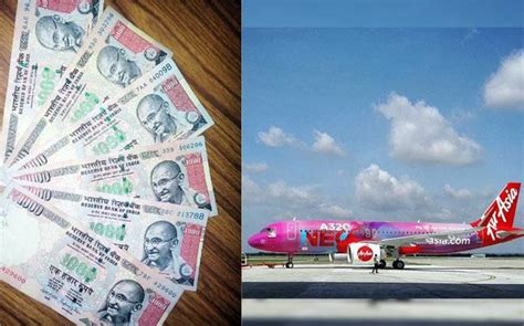 accept rs 500 rs 1000 notes till november airasia will accept rs 500 rs 1000 notes for bookings all