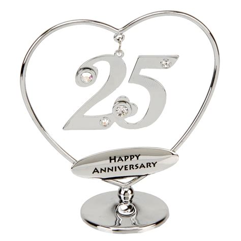 25th Wedding Anniversary Gifts by 25th Anniversary Cake Topper 25th Silver Anniversary