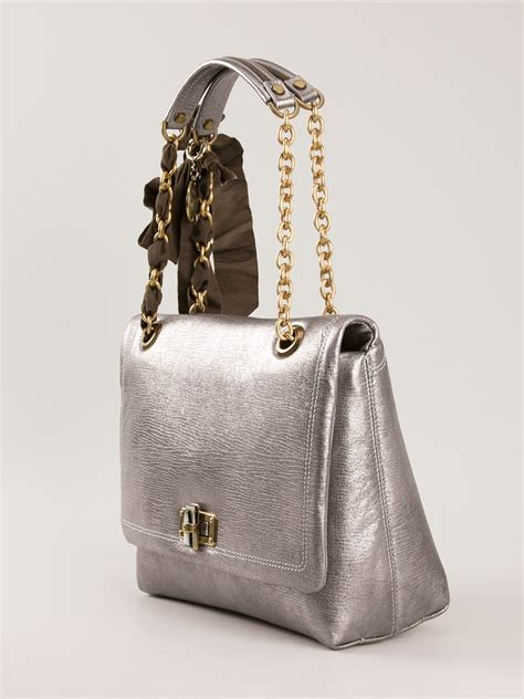 Lanvin Silver by Lanvin Happy Shoulder Bag In Silver Metallic Lyst