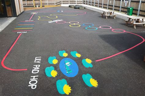 painting school playground exercise tracks signet signs
