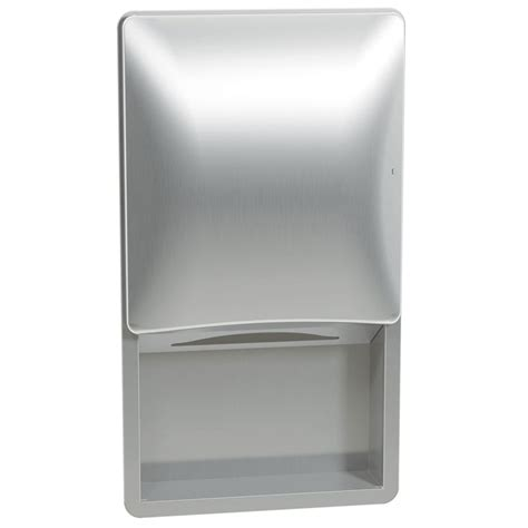 Folded Paper Towel Dispenser - bradley diplomat recessed folded paper towel dispenser