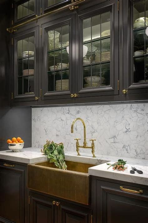 glass front upper kitchen cabinets black galley kitchen features glass front upper cabinets