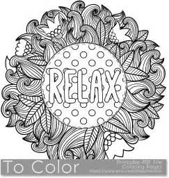 coloring pages for adults pdf printable relax coloring page for adults pdf jpg instant