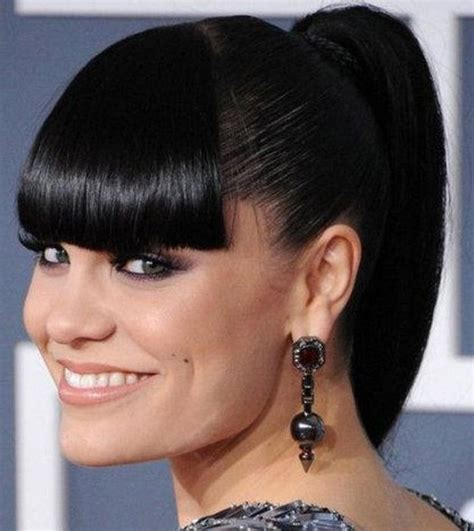 3 fabulous ponytails with bangs pretty designs