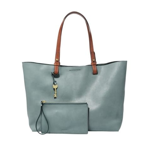 Fossil Tote Bag Leather womens leather tote fossil