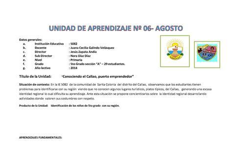 unidad del quinto grado de primaria calam 233 o unidad de agosto 2014 de quinto grado de primaria