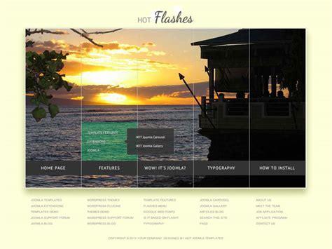 template joomla menu hot flashes joomla menu slideshow hotthemes