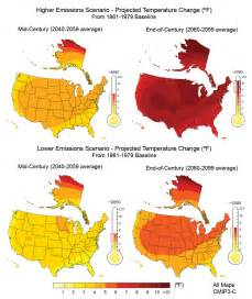 global warming map of the us future climate change climate change us epa