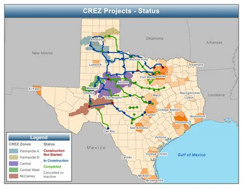 texas grid map fewer wind curtailments and negative power prices seen in texas after major grid expansion
