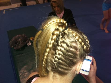 gymnastics updos 79 best images about gymnastics meet hairstyles on