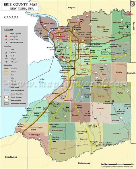 buffalo ny zip code map erie county map map of erie county new york
