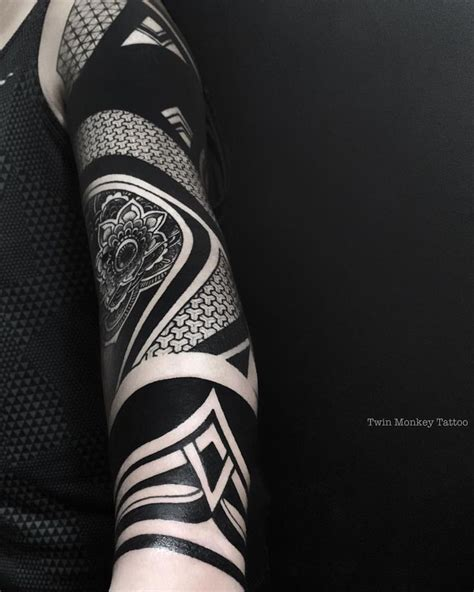 blackout tattoo sleeve 1000 ideas about blackout on tatoo