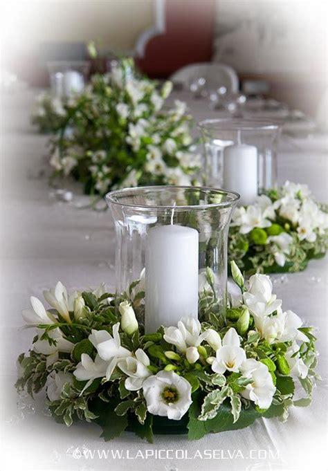 composizioni floreali con candele ortensie e candele cerca con wedding