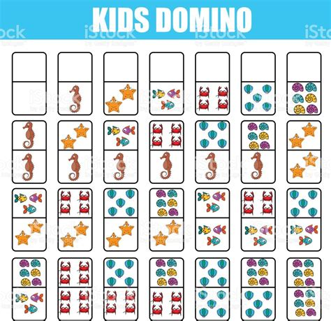 printable educational board games domino for kids children educational game printable