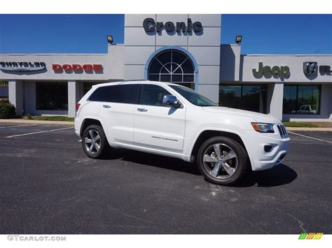 cherokee jeep 2016 white 2016 bright white jeep grand cherokee overland 112068256