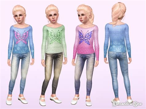 child sims 3 jeans alexandra sine s fly away child