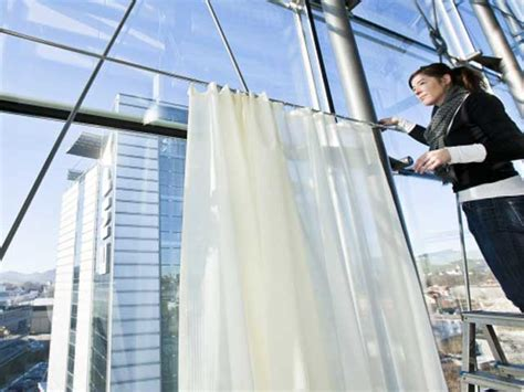 noise absorbing curtains research led to transparent and light sound absorbing