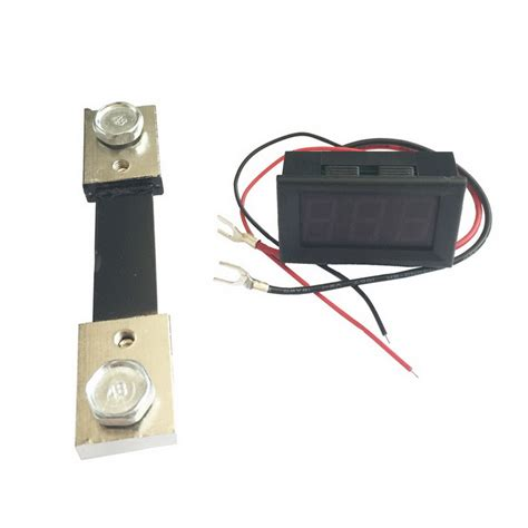 ammeter shunt resistor buy 100a 3 digit display panel digital ammeter w shunt resistor black dc 4 30v