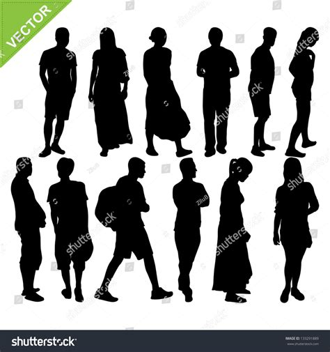 Find Peoples Email Addresses Peoples Silhouettes Vector 133291889