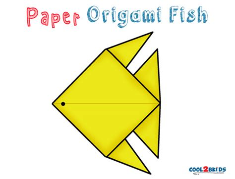 Origami Tropical Fish - how to make an origami fish step by step cool2bkids