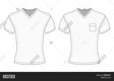men s white short sleeve v neck t vector photo bigstock