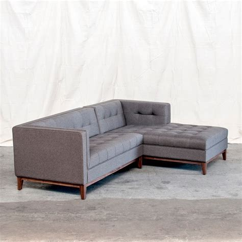 Atwood Sectional Urban Tweed Ink Modern New York By Houzz Sectional Sofas