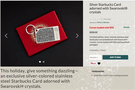 Swarovski Gift Card - starbucks is selling 200 swarovski crystal encrusted gift card keychains