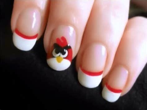 imagenes de uñas decoradas de ositos u 241 as decoradas angry birds youtube