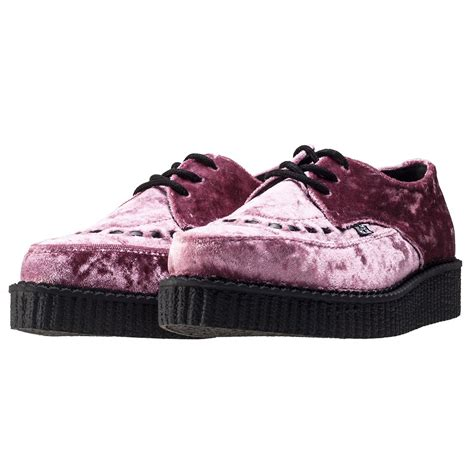 t u k casbah creeper womens shoes in pink