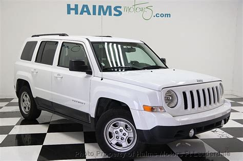 white jeep patriot 2016 2016 used jeep patriot fwd 4dr sport at haims motors