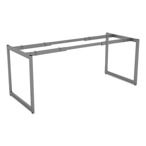 alera 174 open office desk series adjustable o leg desk base