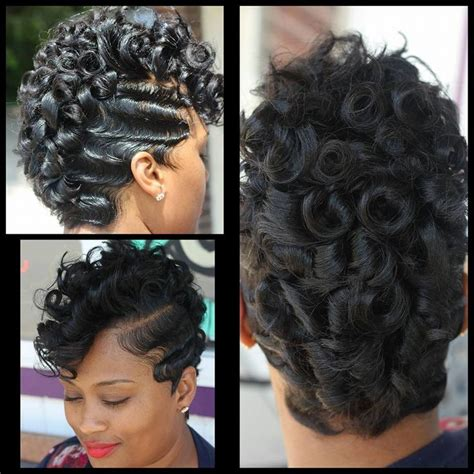 black people hair finger wave with wet and wavy hair added theglamher411 com short hair don t care pinterest