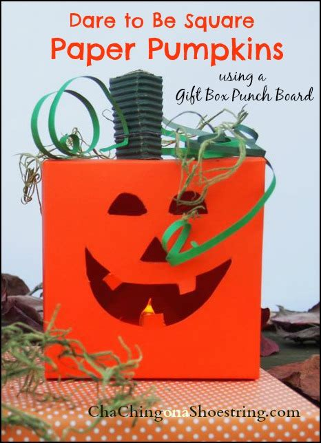 dare to be square the dollar store diva dare to be square paper pumpkins