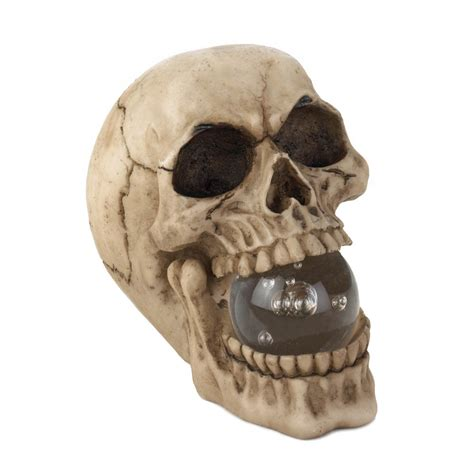 skull home decor skull with lighted orb wholesale at koehler home decor