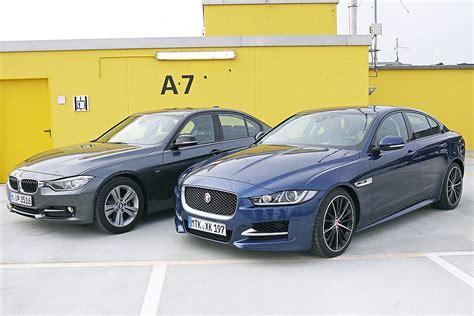 jaguar xe vs bmw 3er bilder autobild de