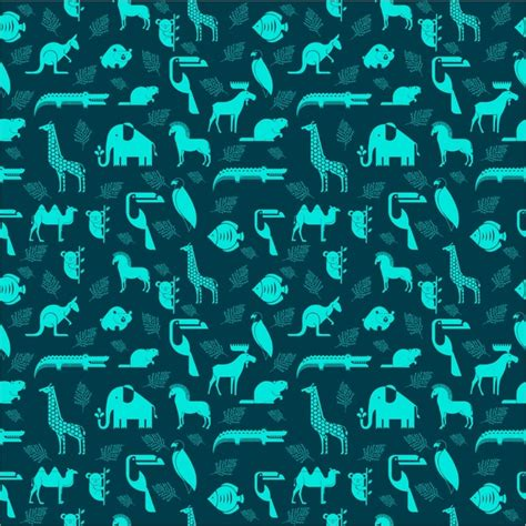 svg pattern no repeat animals repeating pattern vector illustration free vector