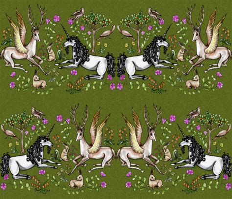 unicorn knit fabric unicorn garden fabric uzumakijo spoonflower