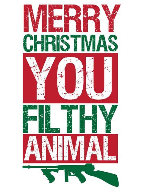 merry christmas  filthy animal mens white  shirt buy   grindstorecom