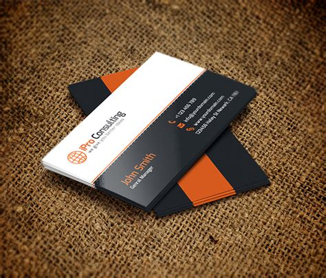complimentary card design template free psd ipro consulting business cards