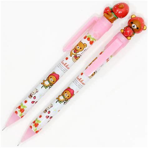 Squishy Crayon Pencil porte mine figurine d ours rilakkuma et fraises