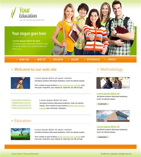 confidence website template 4368 education kids