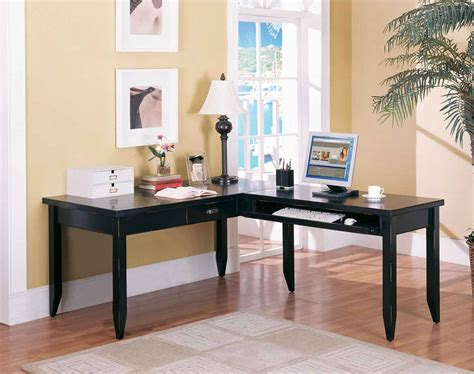 black l black l shape for home office