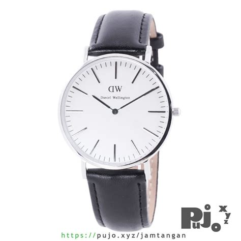 Harga Jam Tangan Daniel Wellington Classic jual daniel wellington classic sheffield 40mm silver black leather jam tangan pujo xyz
