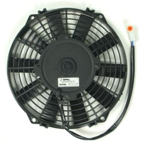 pusher fan vs puller fan spal 9 24v straight blade pusher electric fan speedy