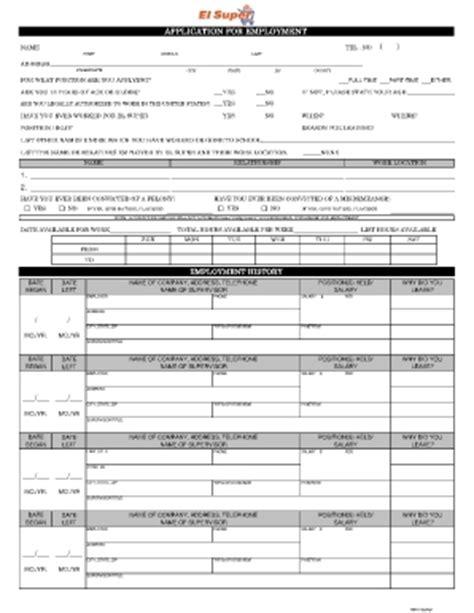 El Super Printable Job Application | northgate market job application cambogiapureselects net